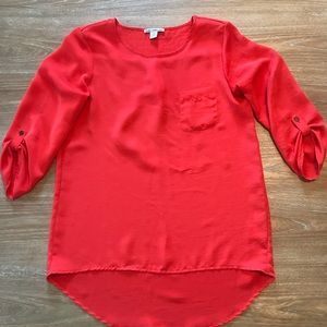 🛑6 for $30🛑 DALILA COLLECTION RED SATIN BLOUSE